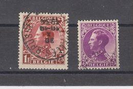 COB 391 / 393 Oblitérés - 1934-1935 Leopold III