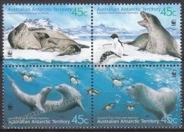 Australian Antartic Territory 2001 Yvert 145-48, Fauna, Leopard Seal - MNH - Australian Antarctic Territory (AAT)