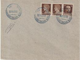 FRANCE : GUERRE . BASE ATLANTIQUE ITALIENNE . DE BORDEAUX . PHILATELIQUE . 1943 . - Guerra Del 1939-45