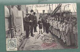 OSTENDE OOSTEND-Roi Albert Avec Princes Charles Et Leopold Sur Bateau Ecole IRIS-cadet Mousse Marin Matelot-2 Scans - Oostende