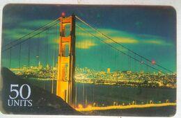 USA 50 Units Phonecard Golden Gate Bridge - Vereinigte Staaten