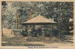 Singapore  Hand Colored Botanical Garden Resting House - Singapore