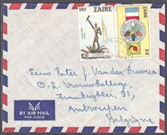 Ca0388 ZAIRE 1984, Tourism & Chefs D'Etat Stamps On Kinshasa 1 Cover To Belgium - 1980-89: Oblitérés