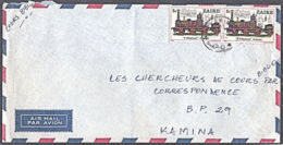 Ca0390 ZAIRE , Railway Locomotive Stamps On Kamina Internal Letter - 1980-89: Oblitérés