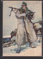 S49 /  Drittes Reich /  Wehrmacht Soldat Gebirgsjäger Osten O. Finnland 1943 - Bingen - Weltkrieg 1939-45