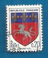 1972 FRANCIA Stemmi Stendardi  Unicorno  Saint-Lô - 0,20 F -  Usato - Gebruikt
