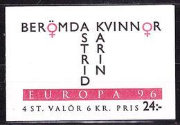 Europa Cept 1996 Sweden Booklet  ** Mnh (49048) - Europa-CEPT
