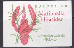 Europa Cept 1998 Sweden Booklet ** Mnh (49050) - Europa-CEPT
