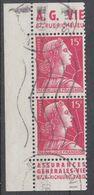 +France Advertising {318}. Yvert 1011. Braun 1193/ 1196. AG VIE/ Assur.gen. Pair. Used - Publicités