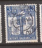 KR-3  1940     JUGOSLAVIJA JUGOSLAWIEN   BALKAN - ANTANTA TUERKEI RUMAENIEN GRIECHENLAND  USED - Oblitérés