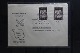 Saarland 308 Auf Brief Als Mehrfachfrankatur FDC Mit Stempel Merzig #BA543 - 1947-56 Gealieerde Bezetting