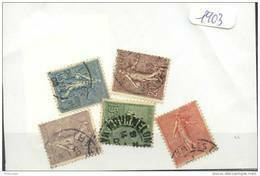 France  Années Completes (o) 1903 (5 Timbres) - ....-1939