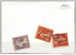France  Années Completes (o) 1906 (3 Timbres) - ....-1939