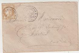"""GUADELOUPE : CG .  N° 19 . OBL . CAD . """" ST CLAUDE """". TARIF MILITAIRE . D'UN CAPITAINE AU VERSO . POUR LA FRANCE . 1881 - Cartas"""