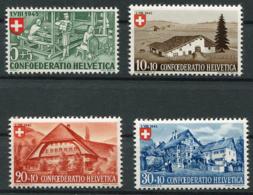 Schweiz-Switzerland-Suisse: Pro Patria Mi. 460-463 1945 ** Postfrisch / MNH / Neuf - Pro Patria