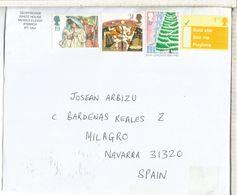 REINO UNIDO CC SELLOS NAVIDAD CHRISTMAS KEW GARDENS ARBOL ASTRONOMIA - Covers & Documents