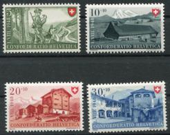Schweiz-Switzerland-Suisse: Pro Patria Mi. 508-511 1948 ** Postfrisch / MNH / Neuf - Pro Patria