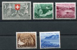 Schweiz-Switzerland-Suisse: Pro Patria Mi. 580-584 1953 ** Postfrisch / MNH / Neuf - Pro Patria