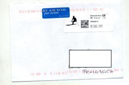 Lettre Vignette Illustré Ski - Marcophilie - EMA (Empreintes Machines)