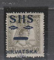 ☀ SHS Yugoslavia 1918 CROATIA,princess ZITA - Beautiful SHIFTED OVERPRINT, MNH FILLER, D! Hungary - Croacia