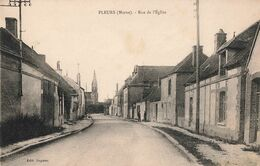 51 Pleurs Rue De L' Eglise Cpa Carte Ecrite En 1940 - Andere Gemeenten