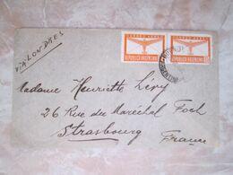 Lettre Par Avion  D Argentine Vers Strasbourg Via Londres - Lettres & Documents