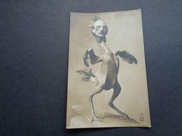 Carte ( 1411 ) Fantantaisie  Fantasie  -  Thème Thema :  Politique  Caricature - Satirische