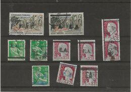 ALGERIE - 1962 - 11 TIMBRES FRANCE SURCHARGES DIVERSES E.A. - Algerije (1962-...)