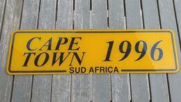 Targa Vintage Plastica Commemorativa Cape Town Sudafrica 1996 Ottimo Stato - Placas De Matriculación
