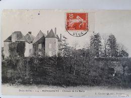 Carte Postale De Menigoute, Le Château De La Barre, 1913 - France