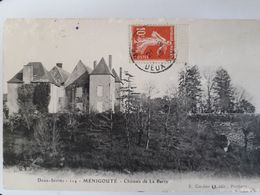 Carte Postale De Menigoute, Le Château De La Barre, 1913 - Frankrijk