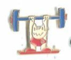 Jeux Olympiques Barcelone 92 Mascotte Cobi Haltérophilie - Giochi Olimpici