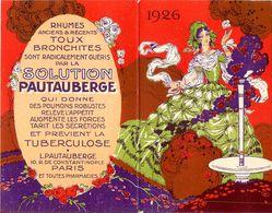 Carte Parfumée Calendrier 1926 * Solution PAUTAUBERGE * Art Nouveau Jugensdtil * Parfum * Calendar - Kalender