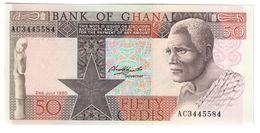 GHANA50CEDIS02/07/1980P22UNC.CV. - Ghana