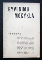 Lithuanian Magazine – Gyvenimo Mokykla 1933 - Libri, Riviste, Fumetti