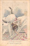 20-9508 : CARTE ILLUSTREE JOLIE FEMME. LE LEVER DE LA PARISIENNE. LIT. - Otros Ilustradores
