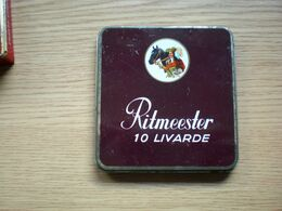 Old Tin Box Ritmeester 10 Livarde - Boites à Tabac Vides