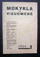 Lithuanian Magazine – Mokykla Ir Visuomenė 1934 - Books, Magazines, Comics