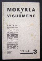Lithuanian Magazine – Mokykla Ir Visuomenė No. 3 1934 - Books, Magazines, Comics