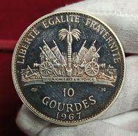 Haiti 10 Gourdes Toussaint L'Ouverture 1967 Km 65.1 Plata - Haiti