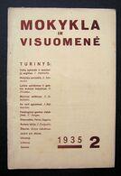 Lithuanian Magazine – Mokykla Ir Visuomenė No. 2 1935 - Books, Magazines, Comics