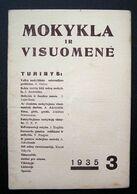Lithuanian Magazine – Mokykla Ir Visuomenė No. 3 1935 - Books, Magazines, Comics