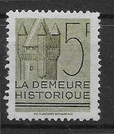 France Vignette La Demeure Historique - Neuf Sans Gomme - TB - Tourisme (Vignettes)
