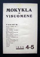 Lithuanian Magazine – Mokykla Ir Visuomenė No. 4-5 1935 - Books, Magazines, Comics