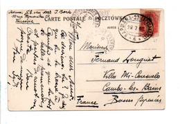 RUSSIE EMPIRE CARTE POUR LA FRANCE 1908 - Brieven En Documenten
