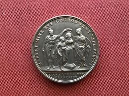 SUPERBE Et Rare Médaille Mars Et Minerve Couronnent Ses Vertus L'an XI De La République Française - Royaux / De Noblesse