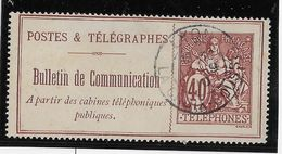 France Timbres Téléphone N°26 - Oblitéré - B/TB - Télégraphes Et Téléphones