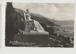 BORDIGHERA MONUMENTO ALLA REGINA  PANORAMA -VIAGGIATA-SI-1951-FP-MT-6328 - Imperia