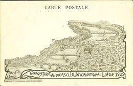 """CP De L'exposition Universelle Internationale De Liège 1905  """" Pub : Savon Soleil , Pierre Ney Verviers Au Verso """" - Luik"""