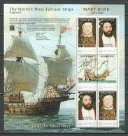 Grenada - MNH Sheet - MS MARY ROSE - Barche